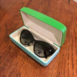 Late Spade Della cat eye sunglasses black